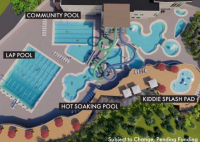 Rendering of pool for Capital Campaign for Old Town Hot Springs.