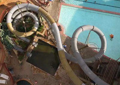 Aerial shot of slides.