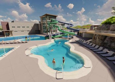 Rendering of new outdoor pools for Capital Campaign.
