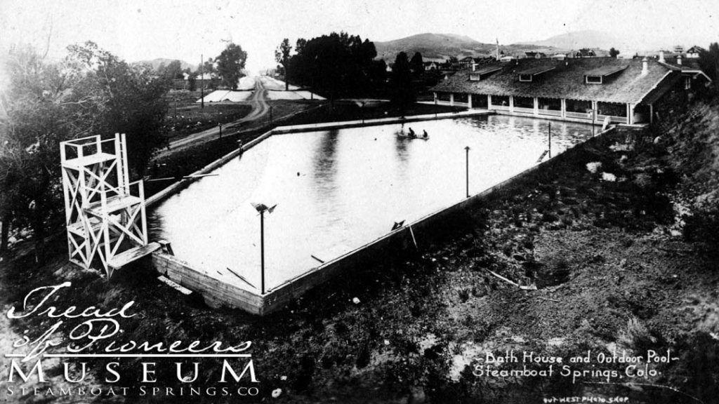 The Bath House, now known as Old Town Hot Springs in 1909.