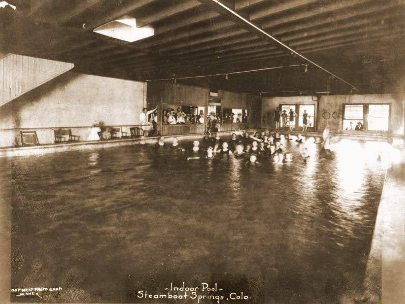 Indoor Pool of original Old Town Hot Springs in 1920.