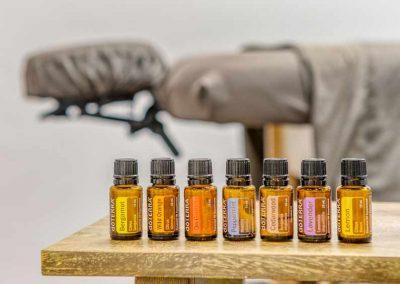Essential oils for massage.